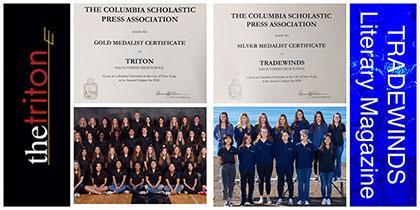 TRITON YEARBOOK & TRADEWINDS LITERARY MAGAZINE  RECOGNIZED AS GOLD & SILVER MEDALISTS FROM CSPA Thumbnail Image