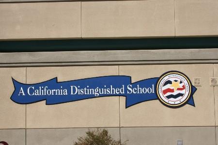 California Distinguished School Sign