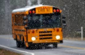School Bus in Icy Weather
