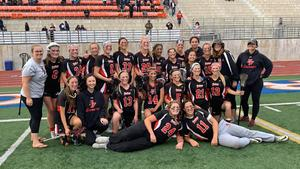 PVHS Girls Lacrosse Team photo on the field May 2019