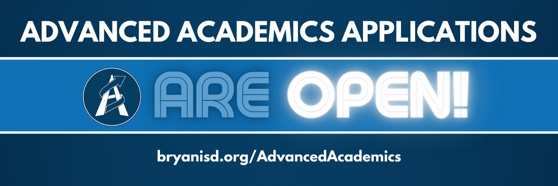 advanced academics applications are open