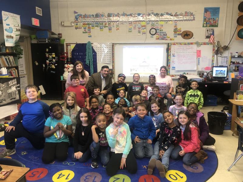 Representative Richie Yow Visits Second Grade! Featured Photo