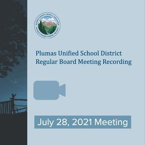PUSD Board Meeting Recording 7/28/21