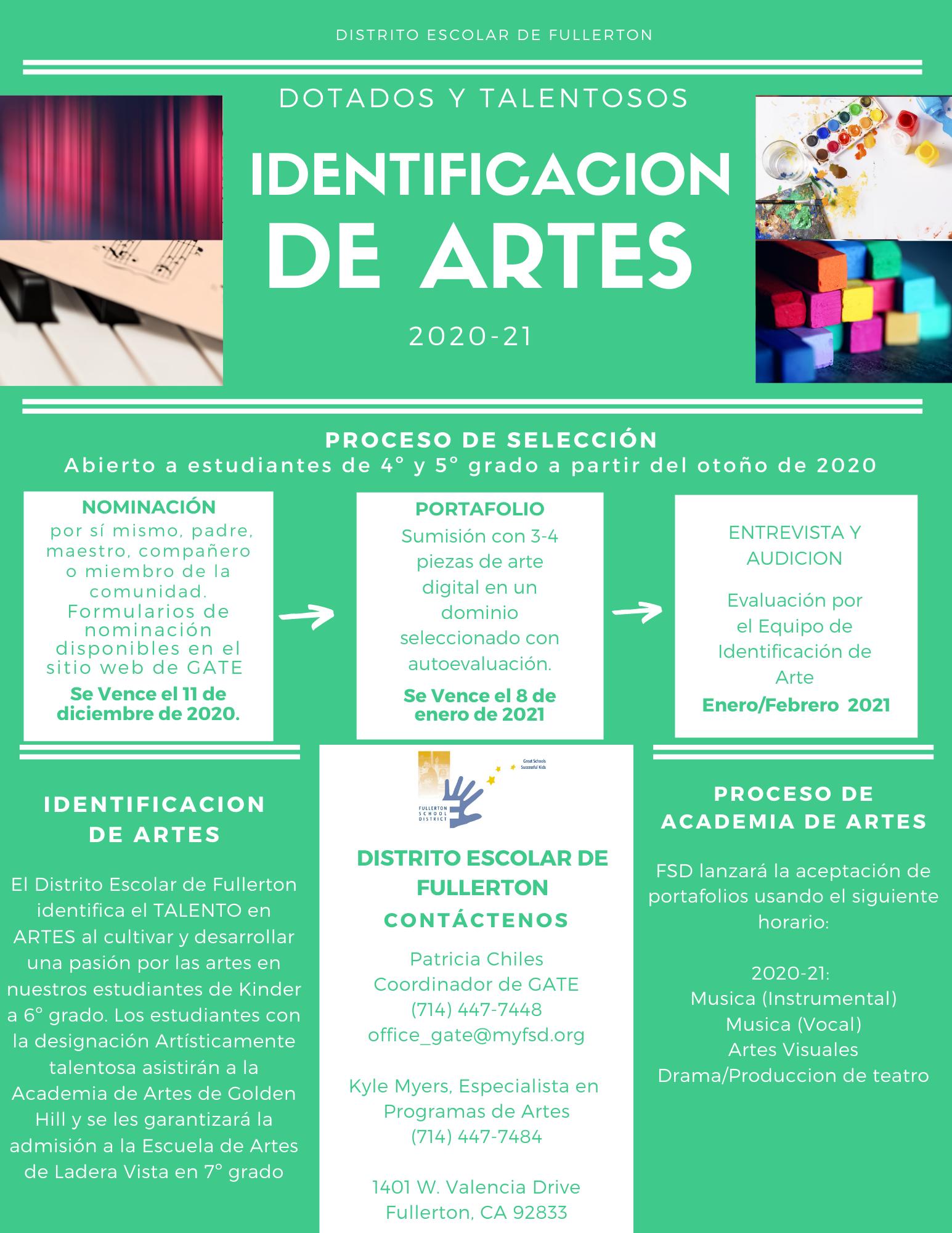 Arts ID Spanish 1