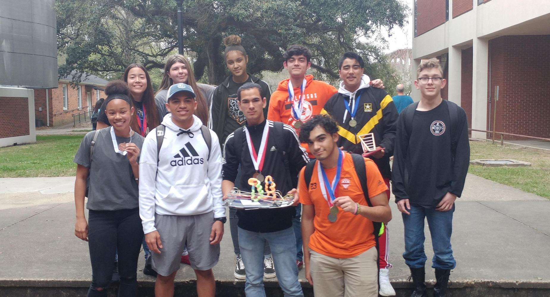 Opelousas High School's Science Olympiad Team earned fourth place at the Louisiana Region II competition held at the University of Louisiana-Lafayette on Saturday, March 9 and qualified for the state competition to be held at Southeastern Louisiana University on April 13.