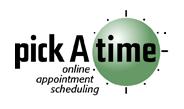Pick a Time logo