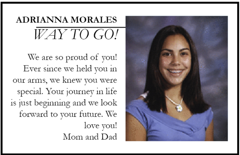 Show how proud you are! Buy a Yearbook ad! (Click here for form) Featured Photo