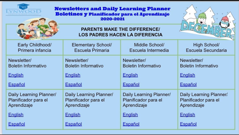 Newsletter and Daily Learning Planner Featured Photo