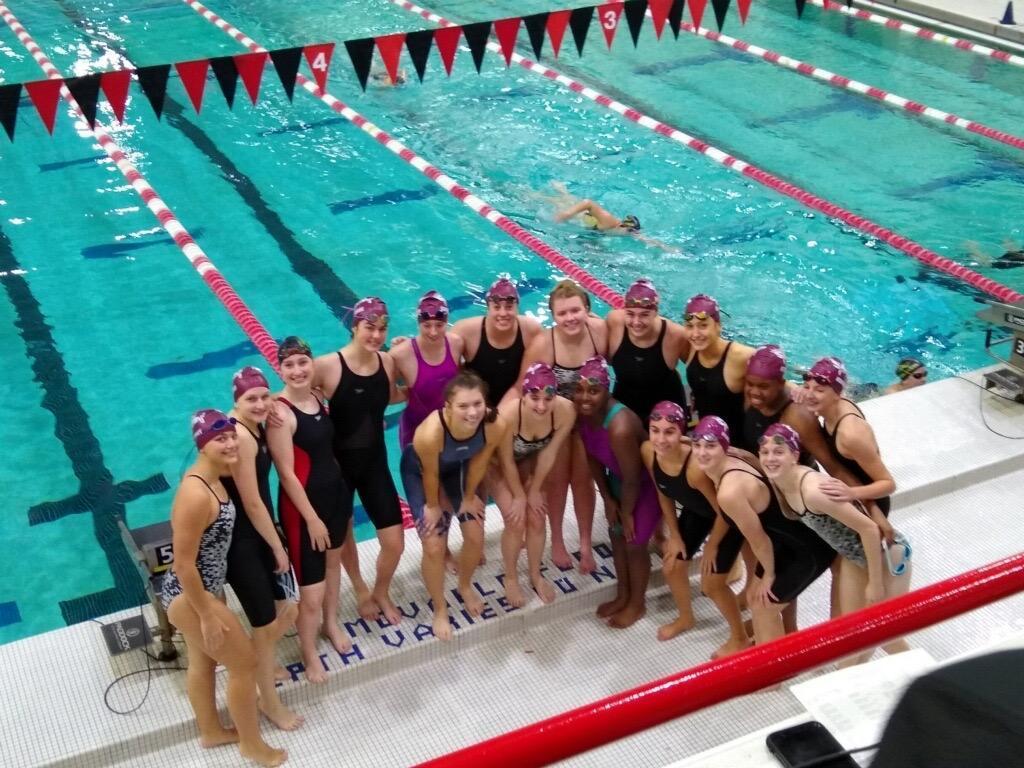 swim team at the pool