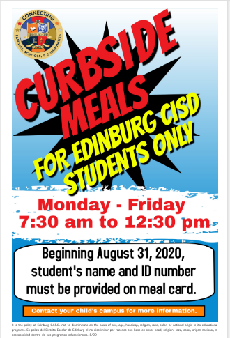 Curbside Meals flyer