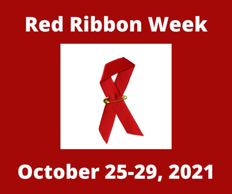 Gananda Central School District Celebrates Red Ribbon Week October 25-29, 2021
