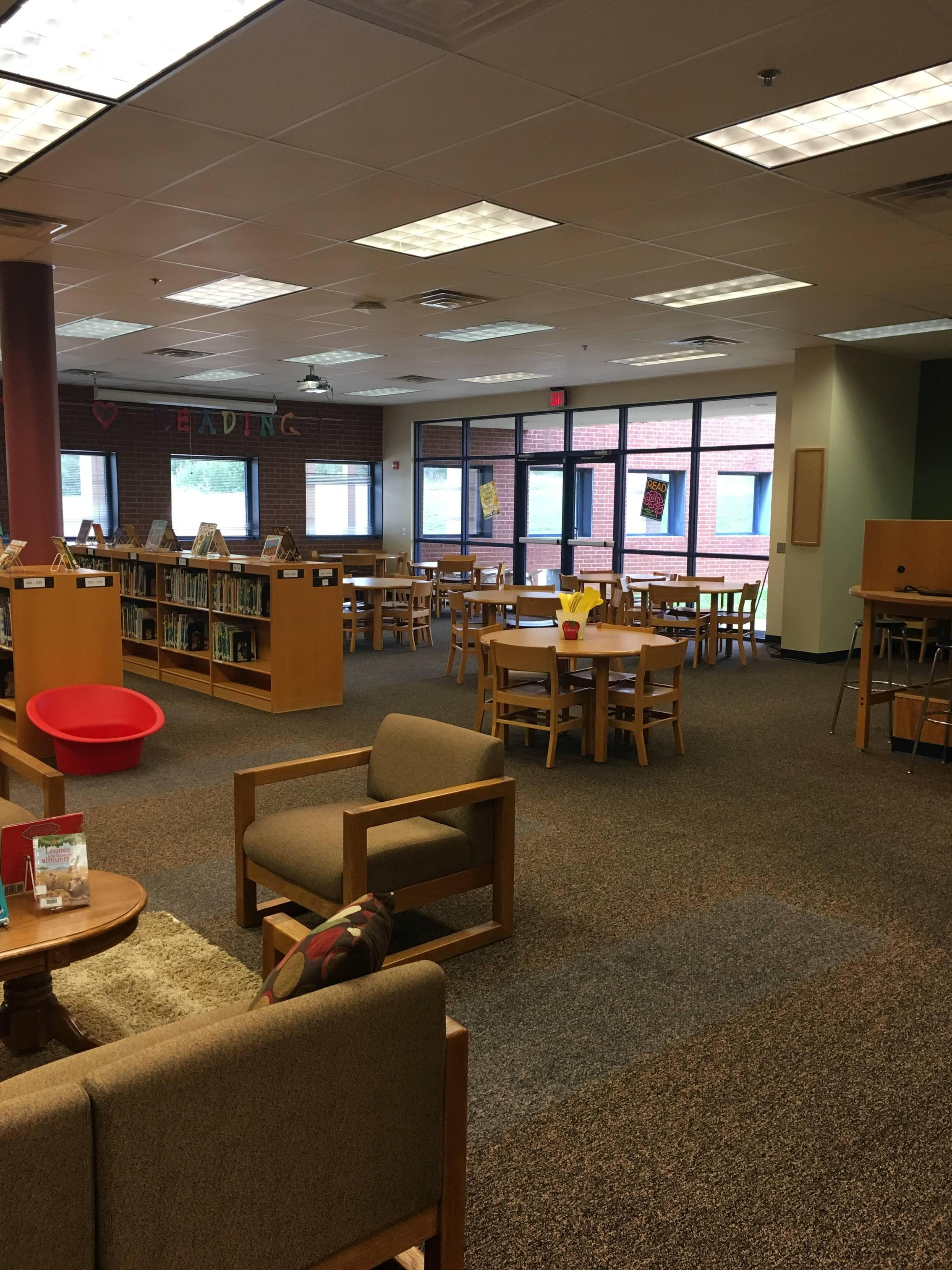 Library seating area