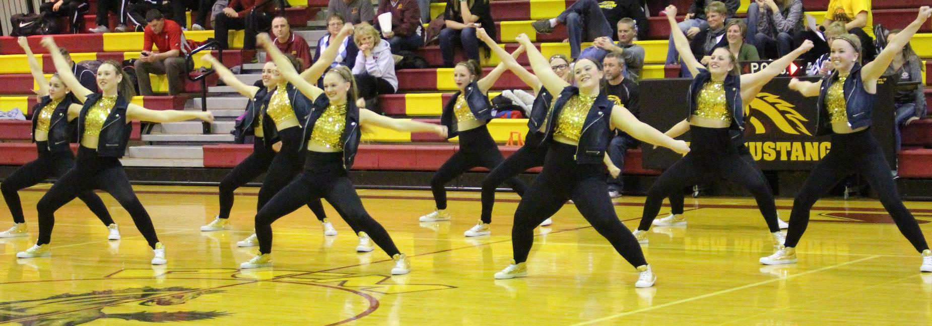 High Dance Team performing