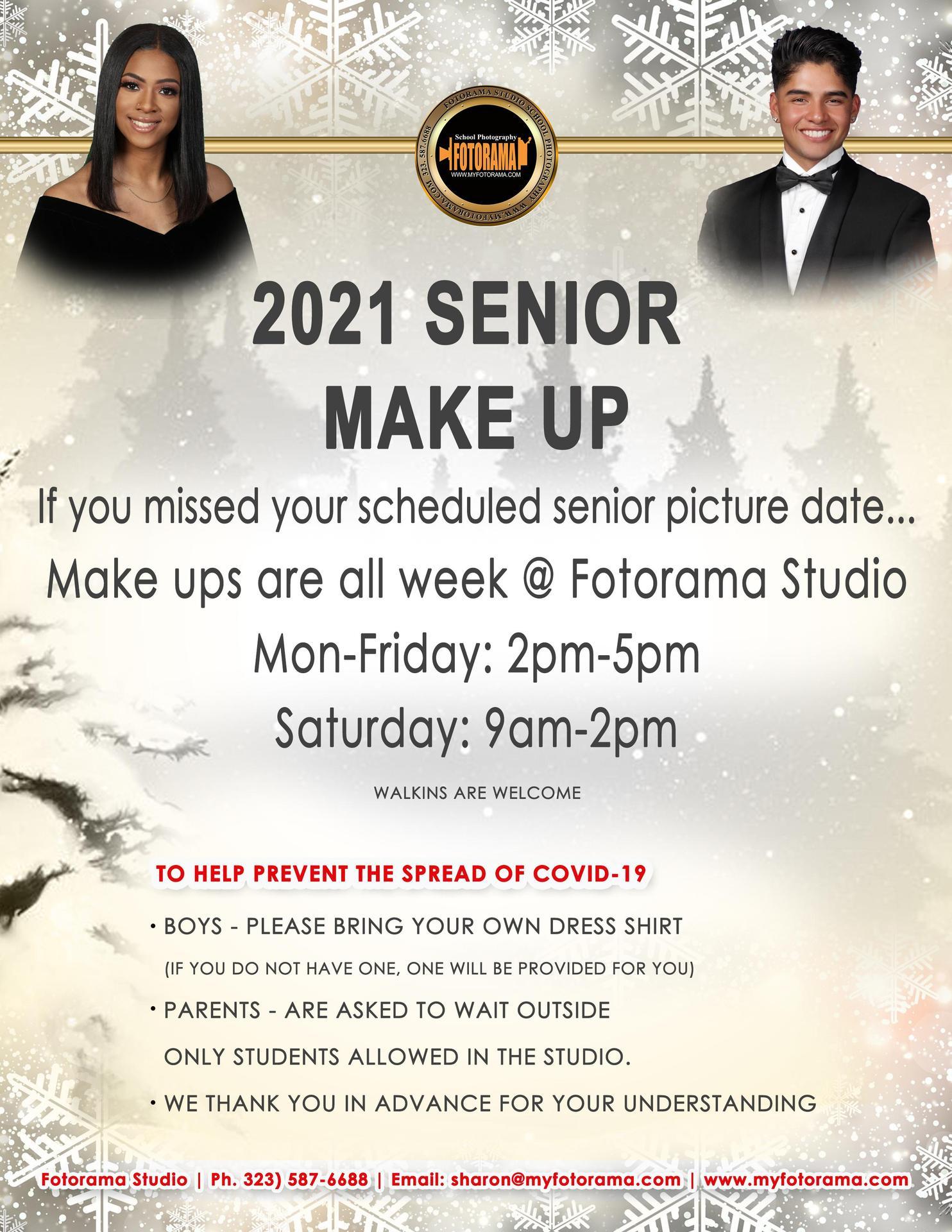 Senior Portrait Makeup Info