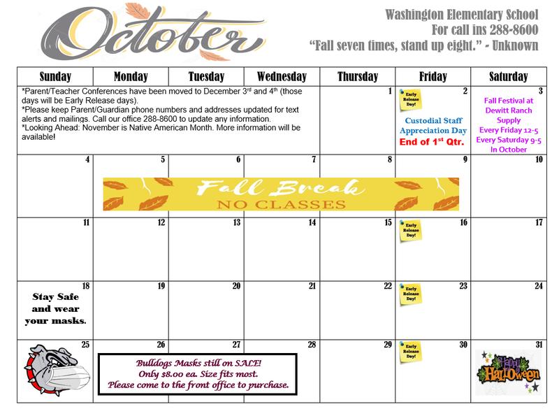 October 2020 Calendar Featured Photo