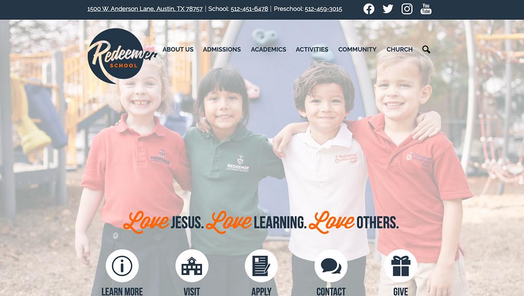 website for Redeemer School