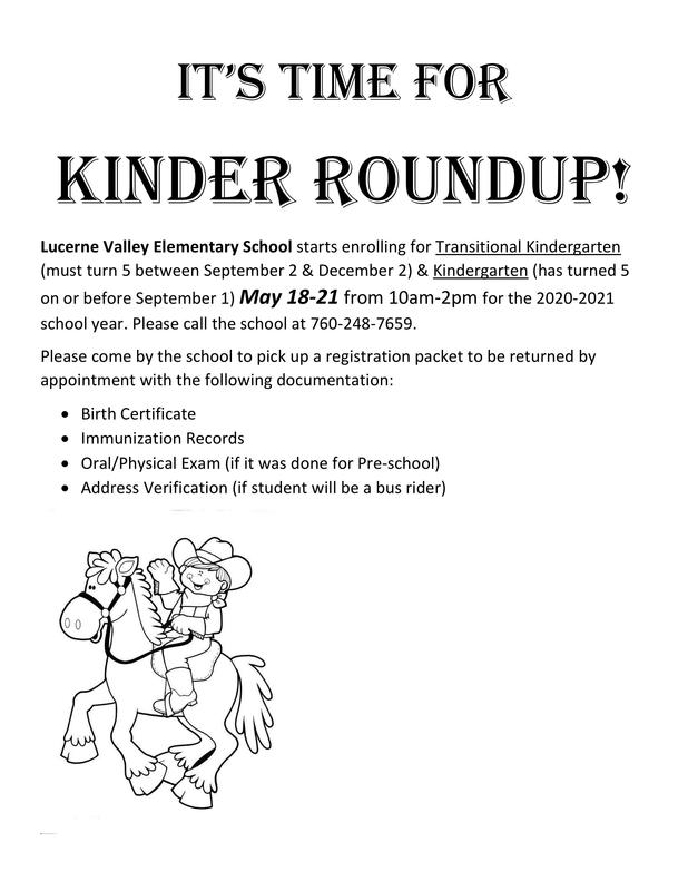 Kinder Roundup Time at Lucerne Valley Elementary Featured Photo