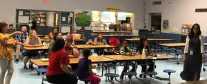 Families at Open House