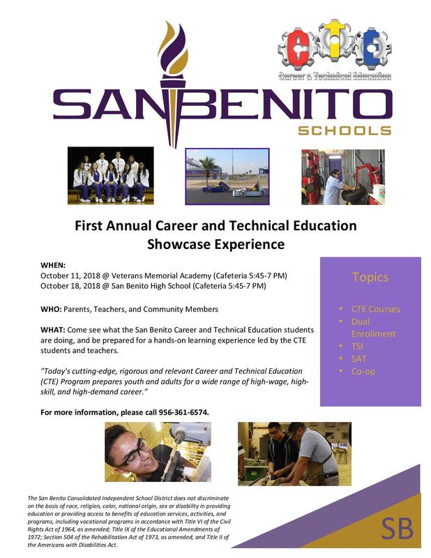 First Annual Career and Technical Education Showcase Experience