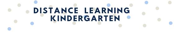 Distance Learning Kindergarten