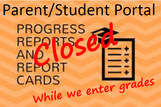 Parent/Student Portal will be closed during grading period Featured Photo