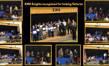 EMS Knights recognized for helping Veteran