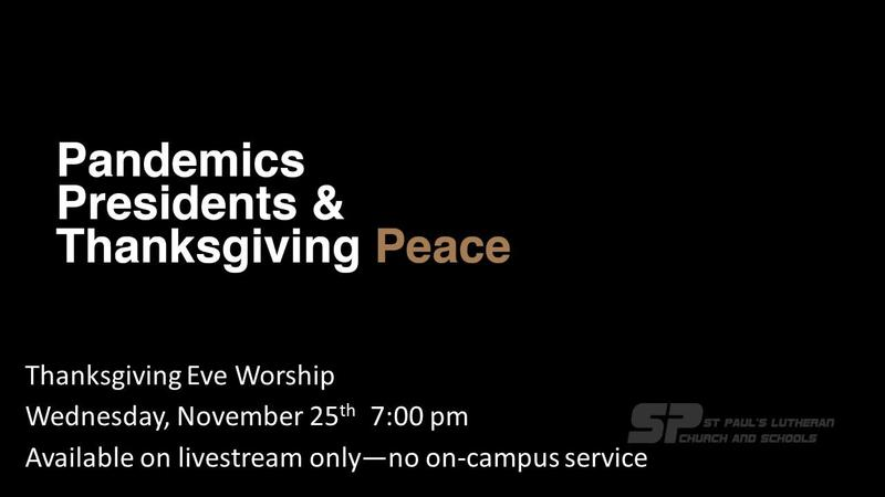 Thanksgiving Eve Worship--Livestream Only Featured Photo
