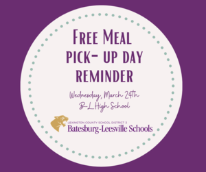 Free Meal Pick-Up Event Planned for March 24th
