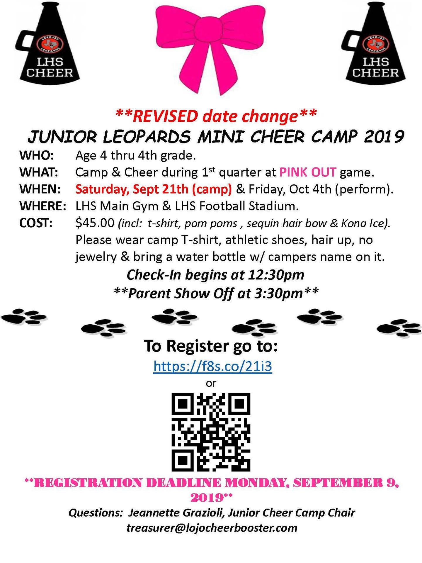 Junior Cheer Camp