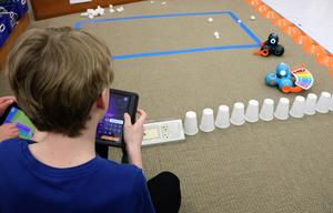 "Photo of: Robotics was just one of the many educational and innovative activities offered during ""Maker Day"" at Roosevelt Intermediate School from March 20-22."