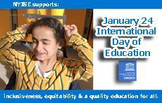 "@UN has chosen Jan. 24 as ""International Day of Education"" and NYISE supports their goals of inclusiveness, equitability and a quality education for all."