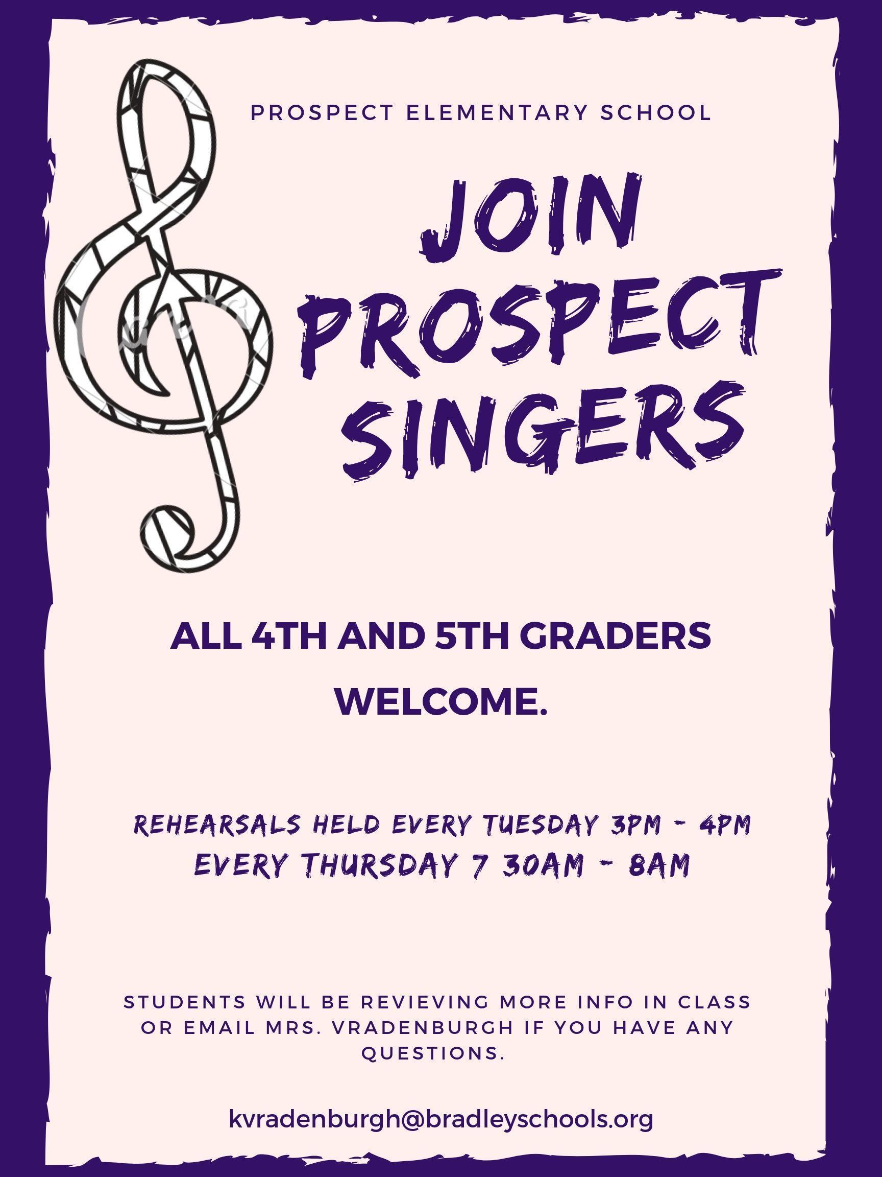 Join Prospect Singers!