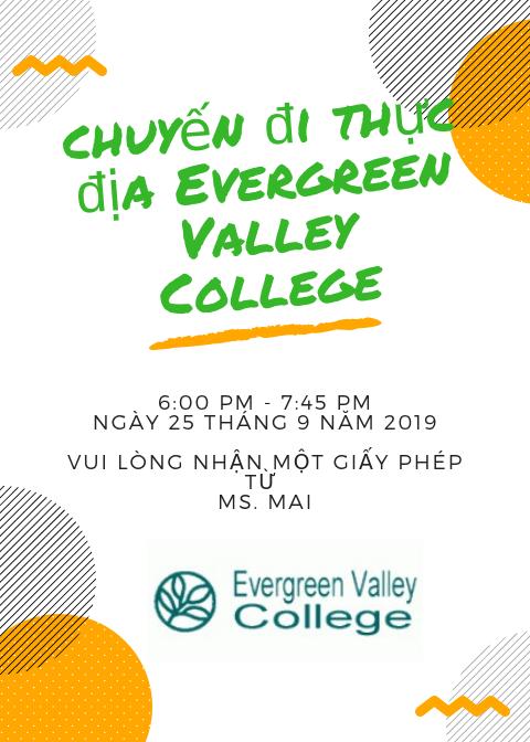 A flier for the EVC field trip in Vietnamese.