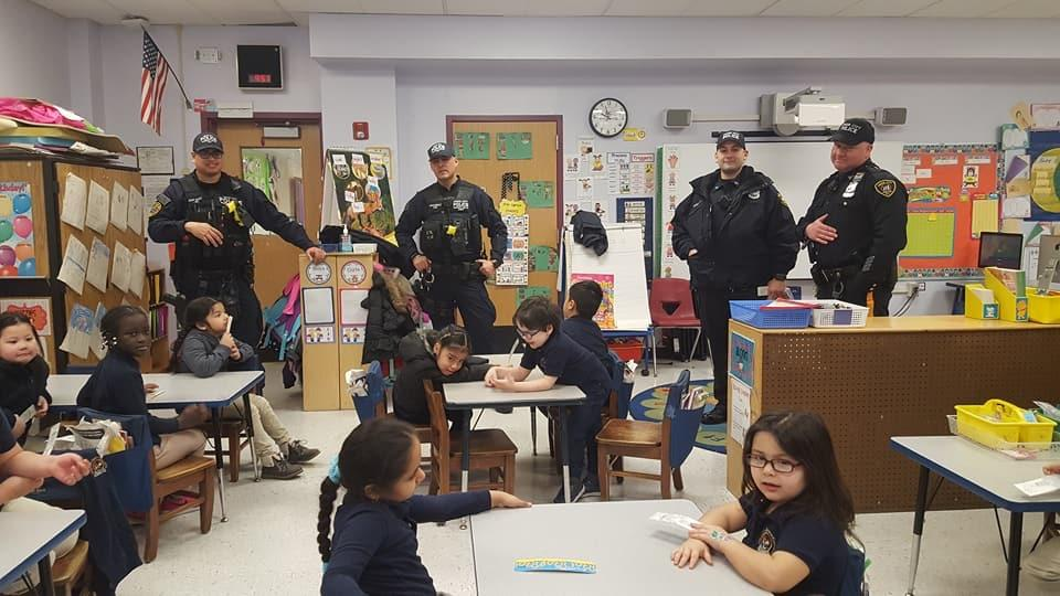 Police reading to children
