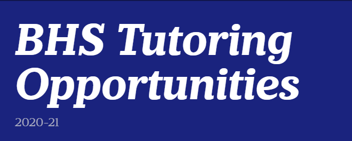 BHS Tutoring Opportunities Thumbnail Image