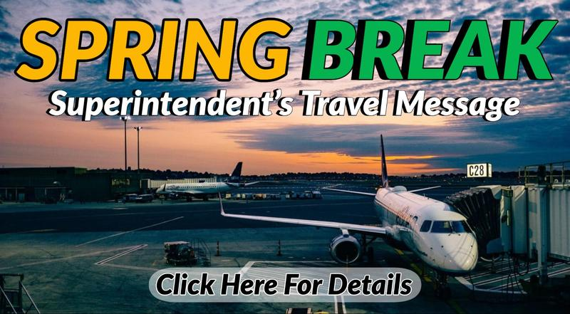 Spring Break Travel Message