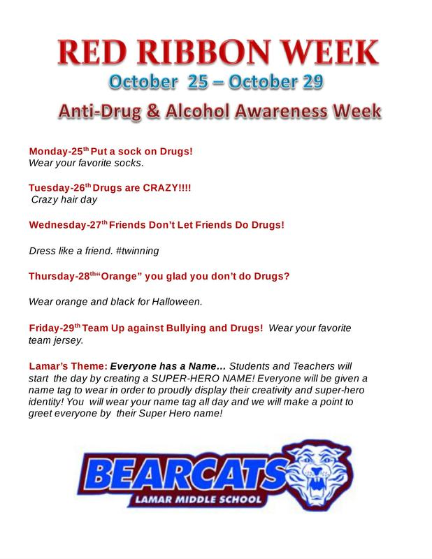 Red Ribbon Week- October 25th-Oct. 29th Featured Photo