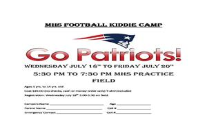 MHS Football Kiddie Camp 2018