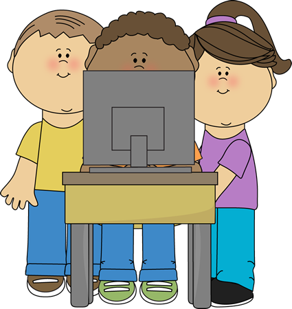 Image of kids on computer