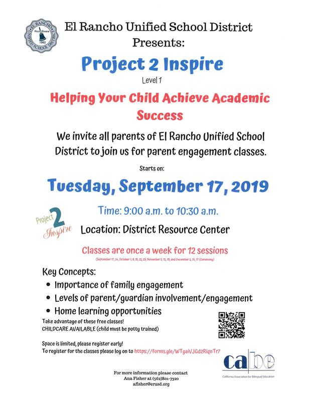Project to Inspire Parent Classes