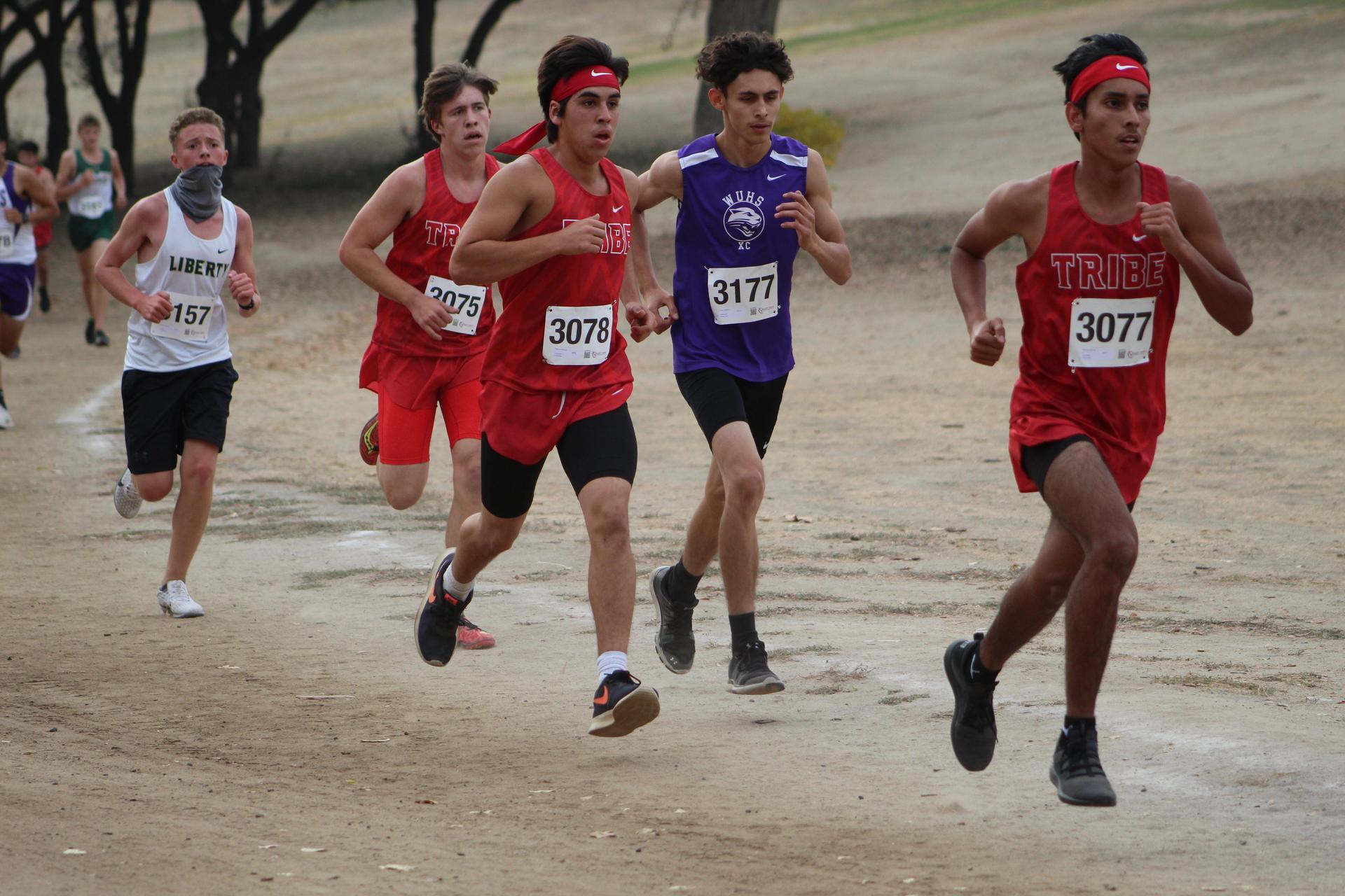 Nicholas Martinez, Nick Upton and Raymond Mendoza racing at woodward park