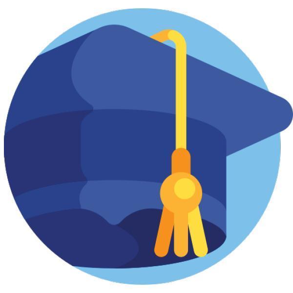 Clip art, blue graduation cap