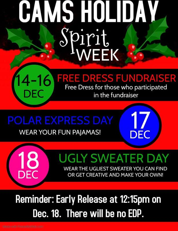 CAMS Holiday Spirit Week Featured Photo