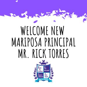 New Mariposa Principal