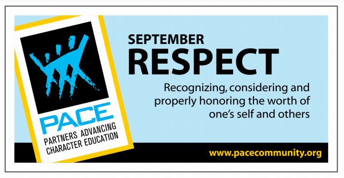 PACE Character Trait for September is RESPECT! Thumbnail Image