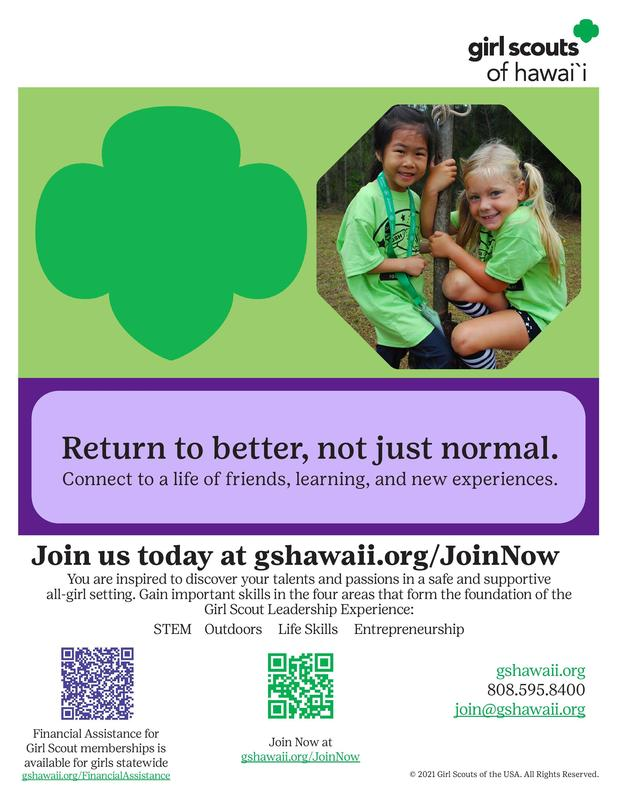 Girl Scouts of Hawaii Flyer