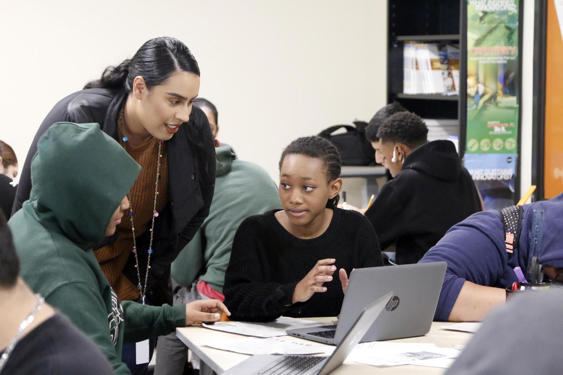 Entrepreneur's scholars engaged in lesson in classroom