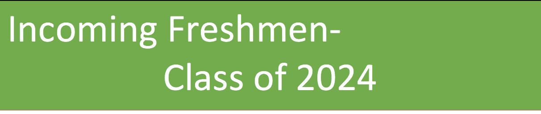 Incoming Freshmen logo