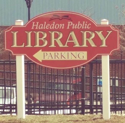 Haledon Library Sign