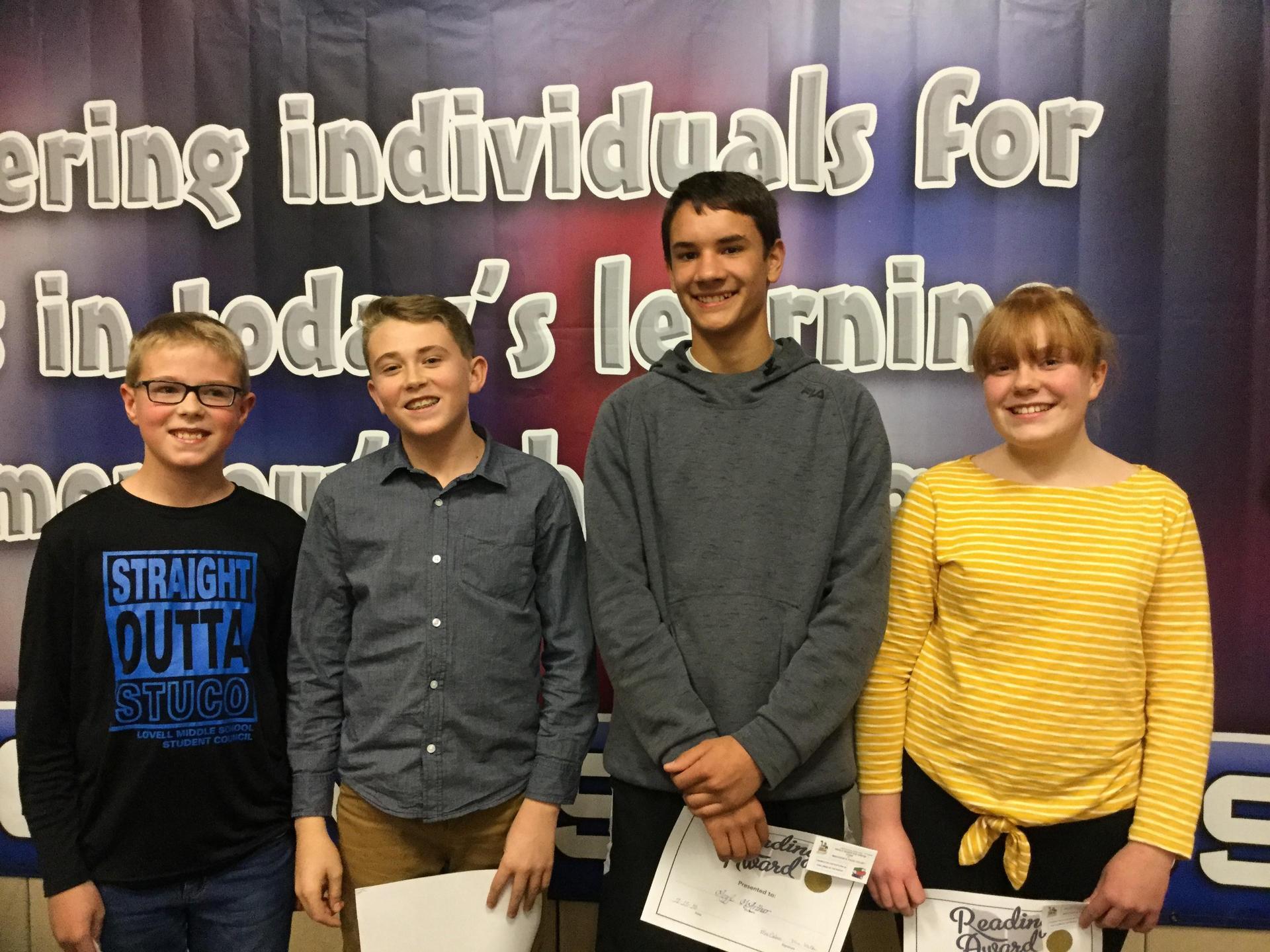 4 students who won CoB